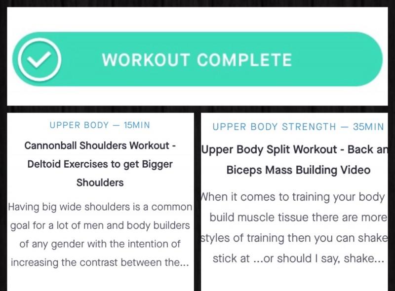Split workout for mass